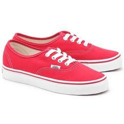 Authentic - Czerwone Canvasowe Trampki Unisex - VEE3RED